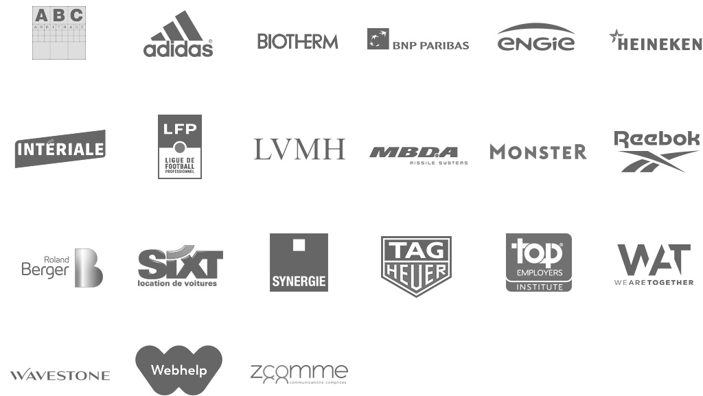logos clients avec un grand h